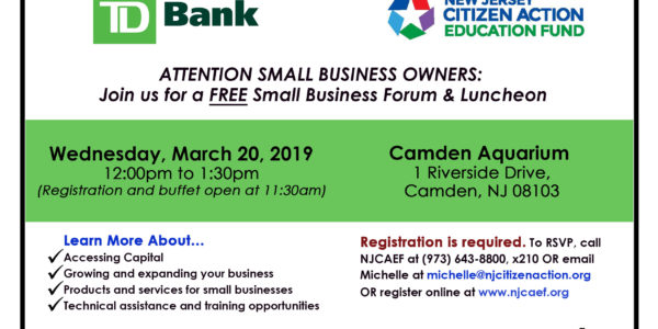 Small Business Forum and Luncheon in Camden